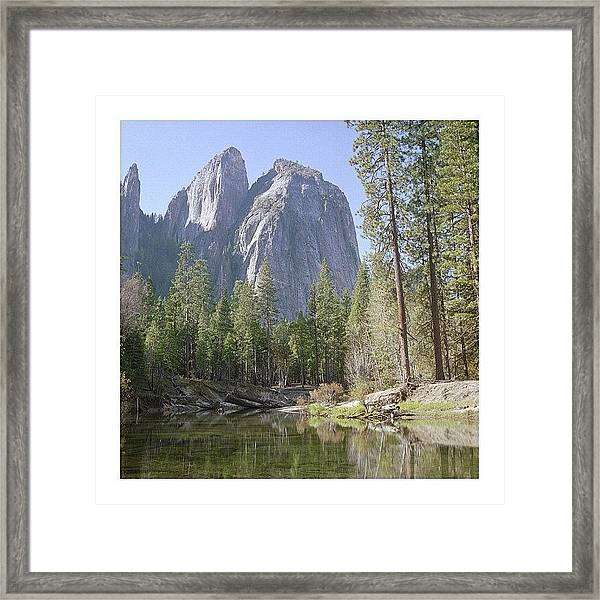 3 Brothers. Yosemite Framed Print