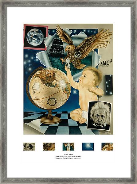 Discovery Of The New World Framed Print