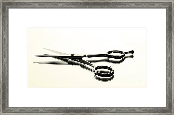 Hair Shears Framed Print
