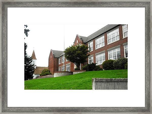 Kalama Aka Forks High School Framed Print