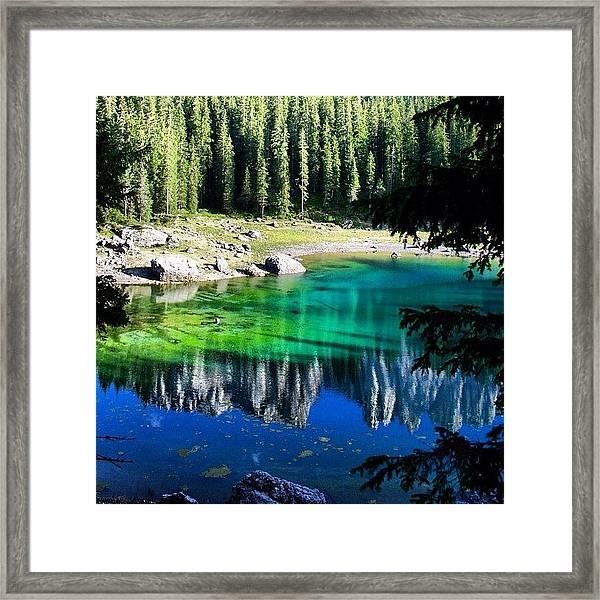 Lake Of Carezza Framed Print