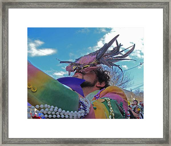 Mardi Gras Day In New Orleans Framed Print
