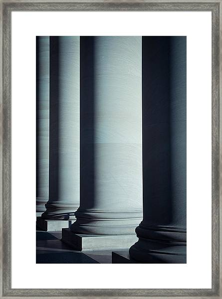 Pillars Of Law And Education Framed Print