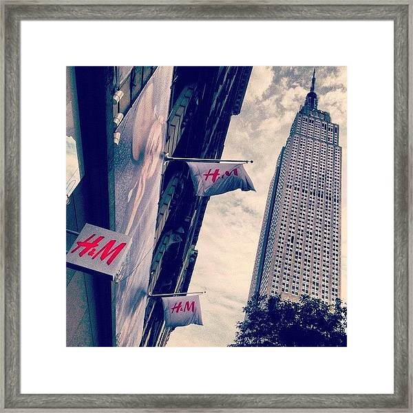 34th Street Framed Print