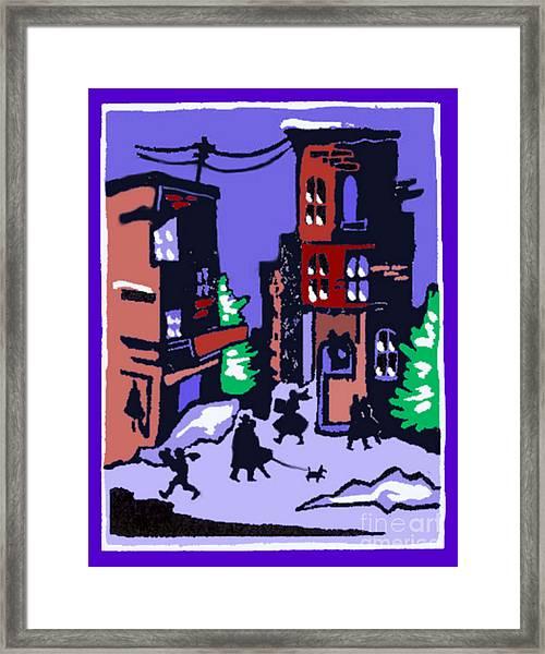 Christmas Street Scene Framed Print