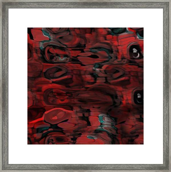 Framed Print featuring the digital art Cromatic by Mihaela Stancu