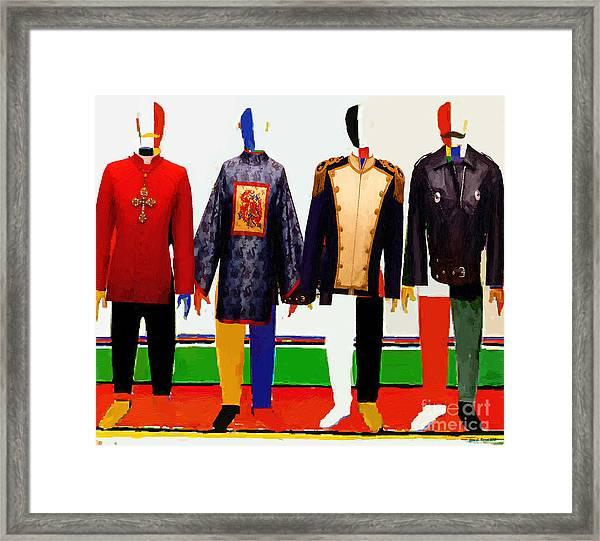 4 Men Framed Print