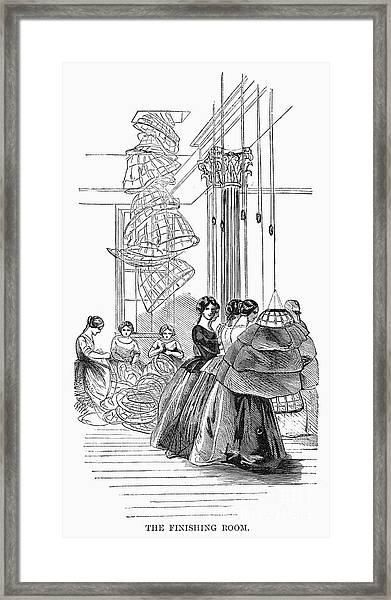 Skirt Factory, 1859 Framed Print