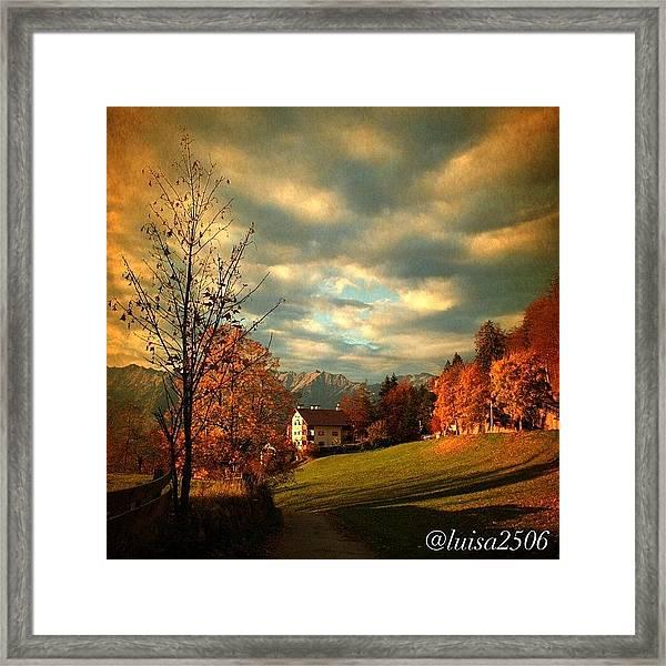 Autumn In South Tyrol Framed Print
