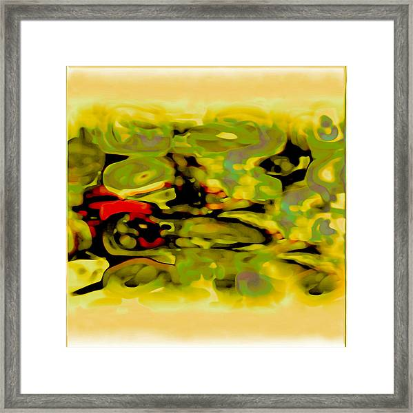 Framed Print featuring the digital art Pastel by Mihaela Stancu