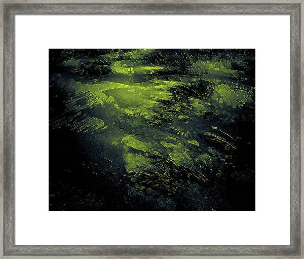 Framed Print featuring the digital art The Splash by Mihaela Stancu