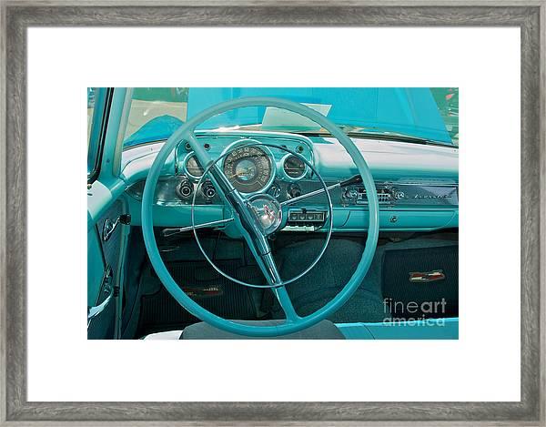57 Chevy Bel Air Interior 2 Framed Print