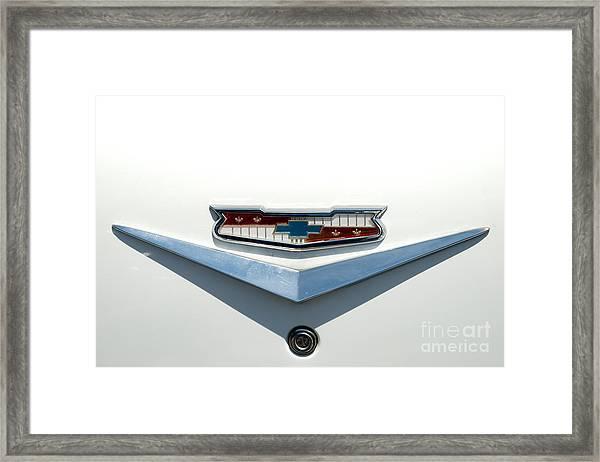 57 Chevy Emblem Framed Print
