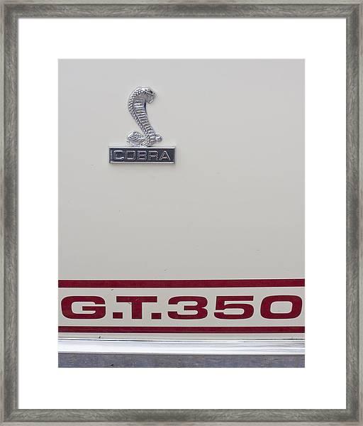 68 Shelby Cobra  Framed Print