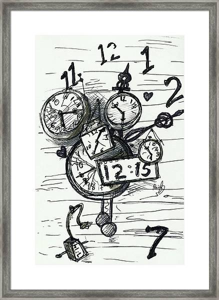 Broken Clocks Framed Print
