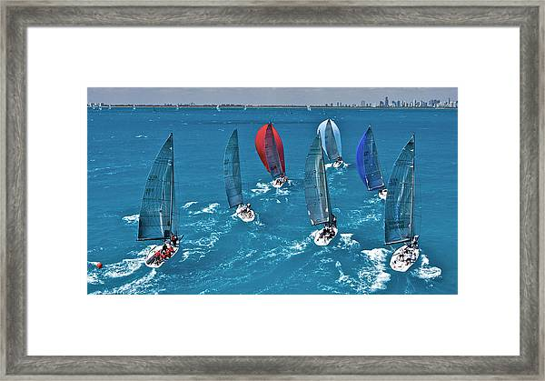 Miami Sail Week Framed Print