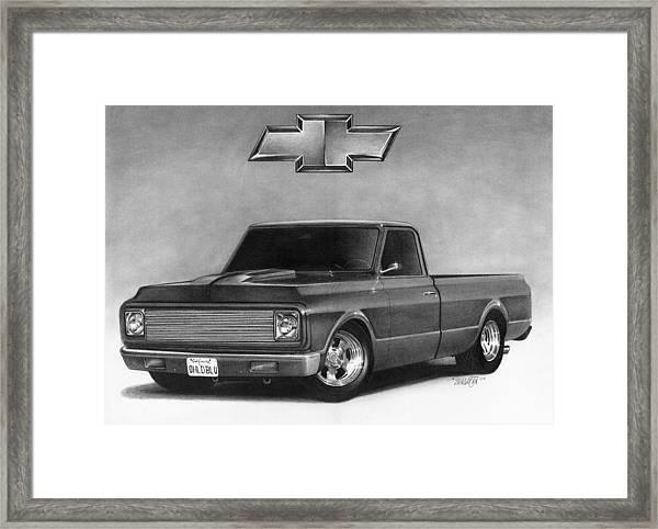 70 Pickup Framed Print