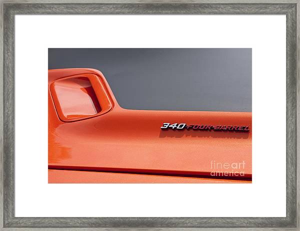 '71 Dodge Challenger Framed Print