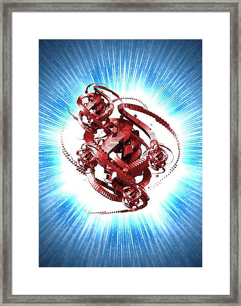 Computer Virus, Conceptual Artwork Framed Print