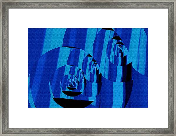 Framed Print featuring the digital art Twirling by Mihaela Stancu