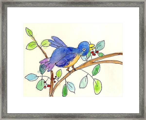 A Bird Framed Print