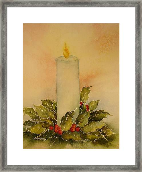 A Candle For Peace Framed Print