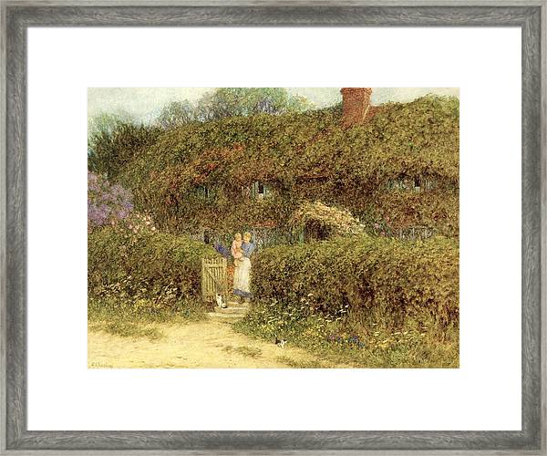 A Cottage At Freshwater Isle Of Wight Framed Print