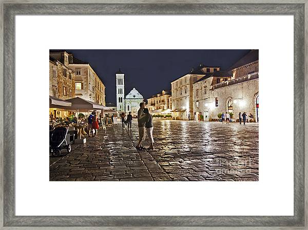 A Croatian Night Framed Print