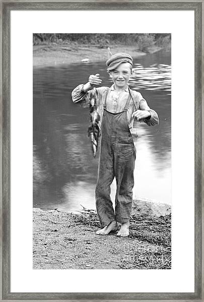 A Days Catch 1900 Framed Print