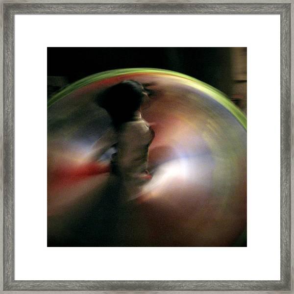 A Female Whirling Dervish In Capadocia Framed Print