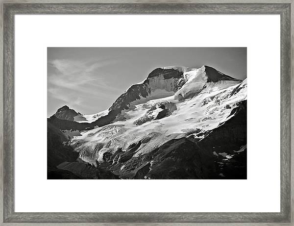 A Glacier In Jasper National Park Framed Print