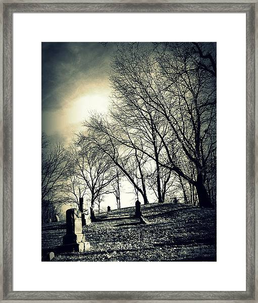 A Grave Situation Framed Print