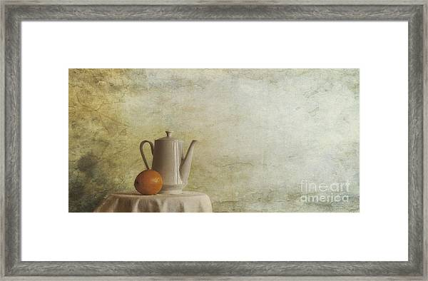 A Jugful Tea And A Orange Framed Print