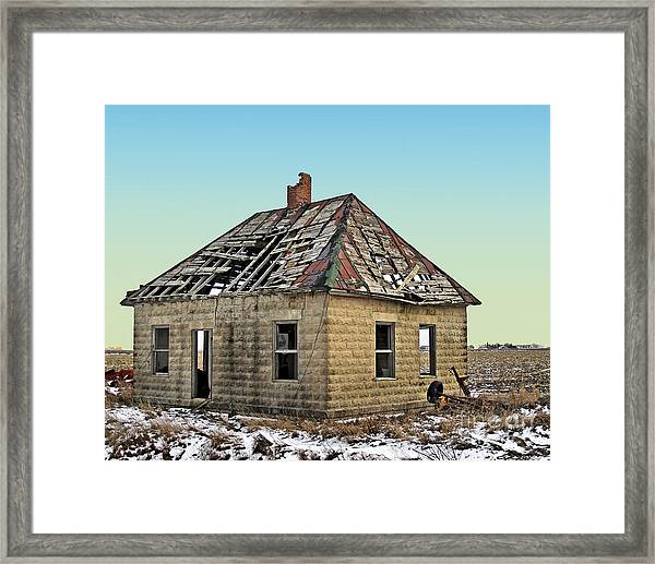 A Leaky Roof Framed Print
