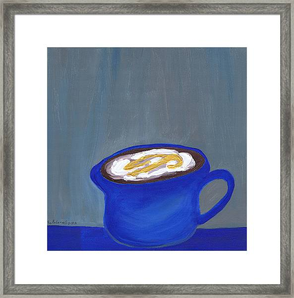 A Little Blue Framed Print