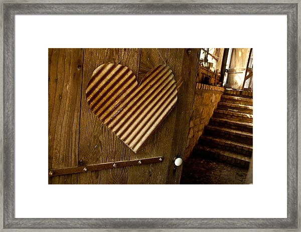 A  Man's Heart Framed Print