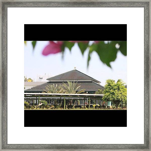 A Mosque Embraced By Nature #bahrain Framed Print