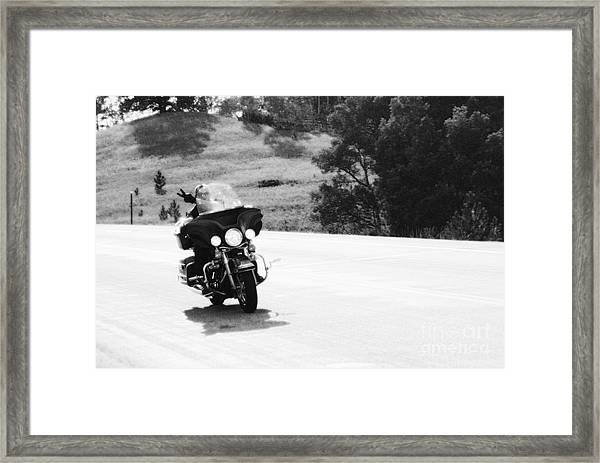 A Peaceful Ride Framed Print