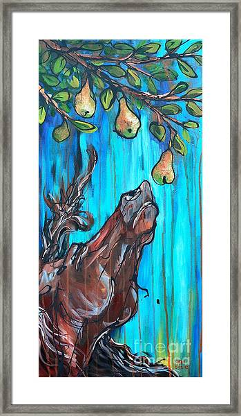 A Pearantly Deoable Framed Print