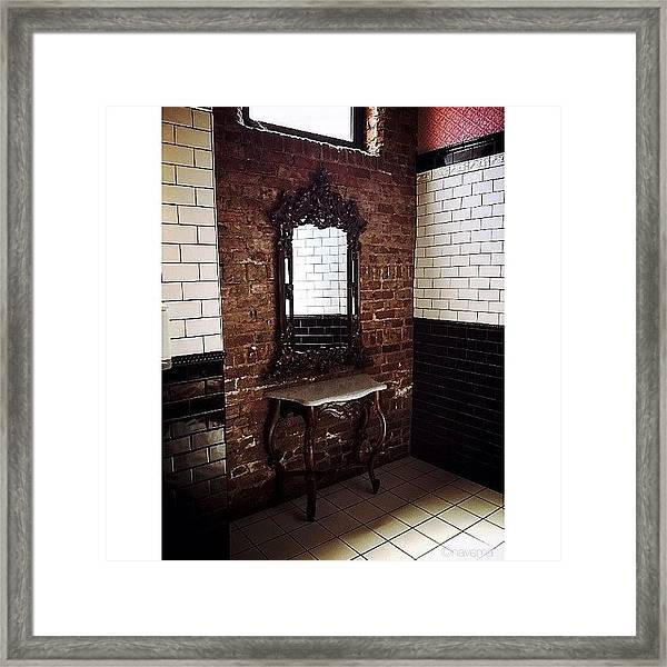 A Place To Powder Framed Print