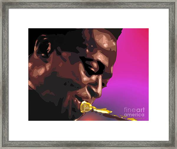 A Portrait Of Miles Framed Print