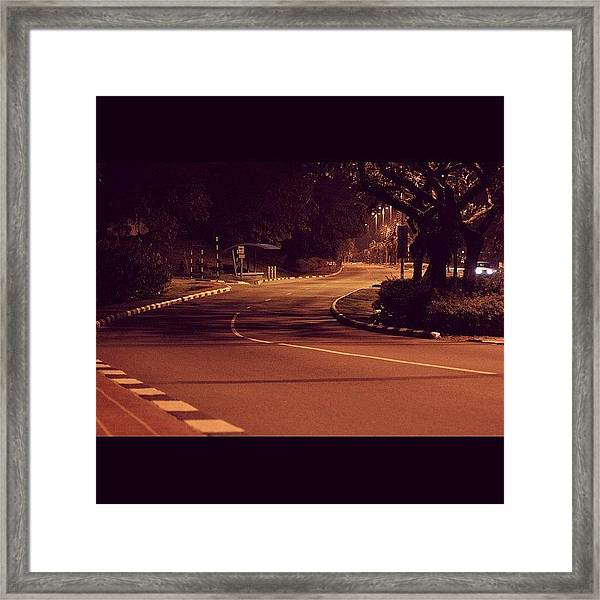 A Road To No Where, Lonely And Empty Framed Print