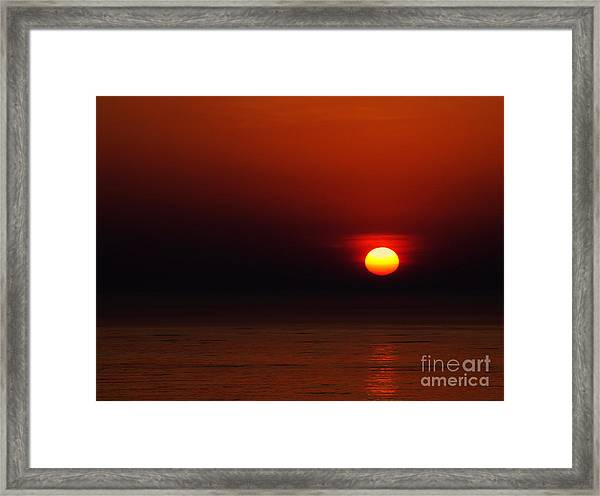 A Simple Time Of Day Framed Print