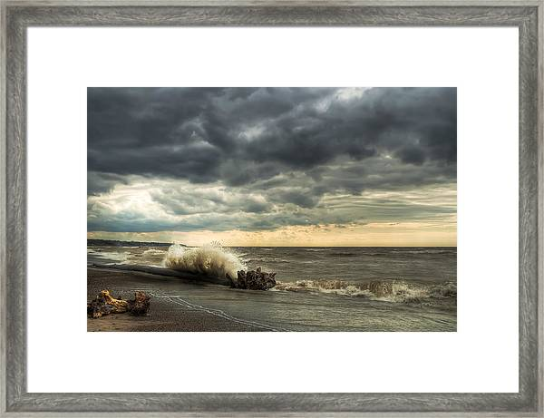 A Storm Is Brewing Framed Print