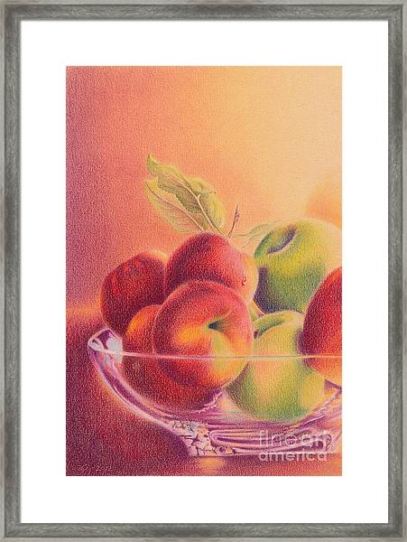 A Trip To The Orchard Framed Print