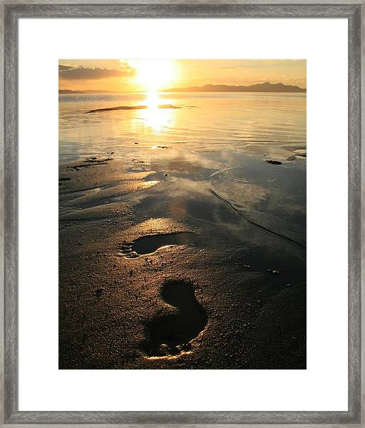 A Walk In The Sand Framed Print by Gene Praag