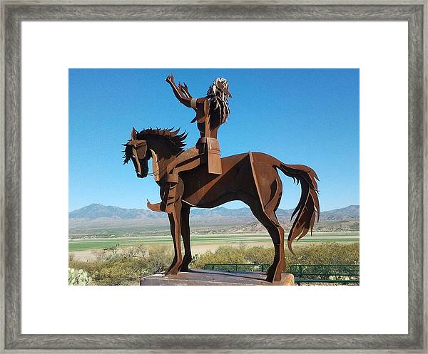 A Warrior Framed Print by Anthony Anderson