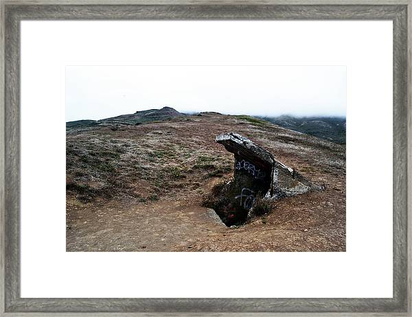 Abandoned Entrance Framed Print