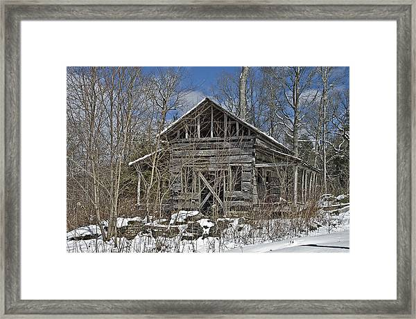 Abandoned House In Snow Framed Print