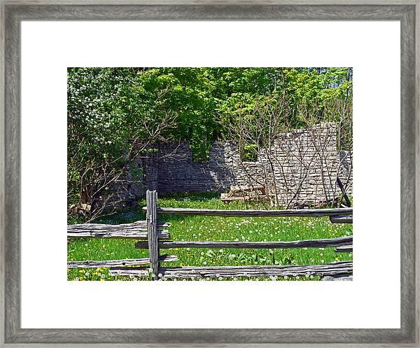 Abandoned Picnic Table Framed Print